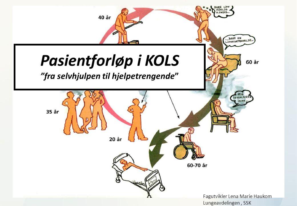 """KOLS og lindrin g 15.nov ember Pasientforløp i KOLS """"fra selvhjulpen til hjelpetrengende"""" Fagutvikler Lena Marie Haukom Lungeavdelingen, SSK"""