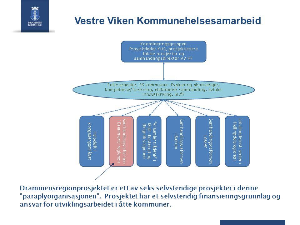 Drammensregionprosjektet er ett av seks selvstendige prosjekter i denne paraplyorganisasjonen .
