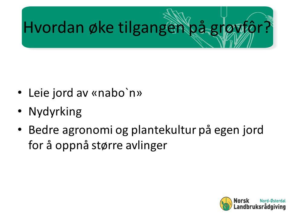 Valg av høstetidspunkt - kvalitetsutvikling på gras