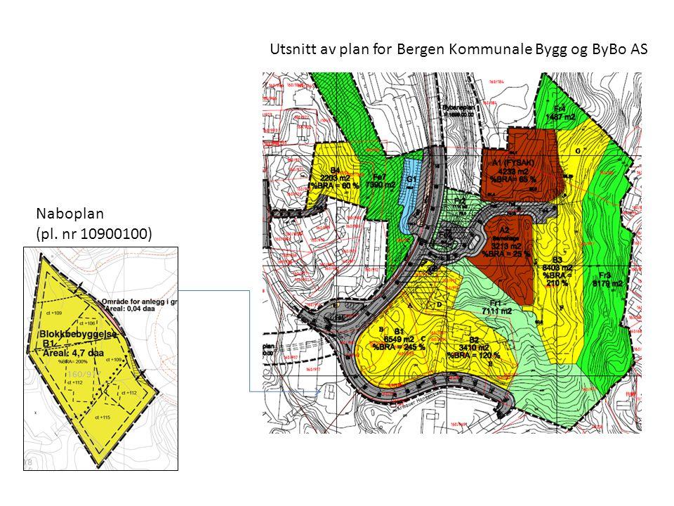 Naboplan (pl. nr 10900100) Utsnitt av plan for Bergen Kommunale Bygg og ByBo AS