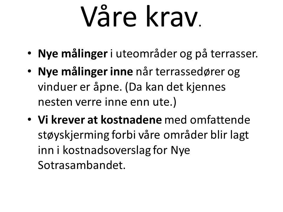 Vårt krav til løsning.Legg veien i tunnel frå Liaflatene til Drotningsvik.
