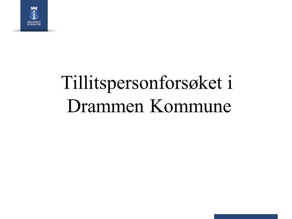 Tillitspersonforsøket i Drammen Kommune