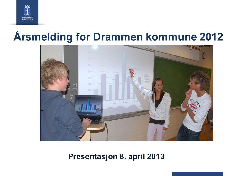 Relativ effektivitet pr. tjenest i Drammen kommune (basert på regnskapstall 2011 i ASSS-kommunene)