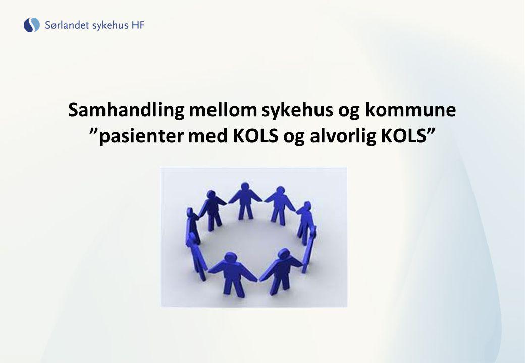 """Samhandling mellom sykehus og kommune """"pasienter med KOLS og alvorlig KOLS"""""""