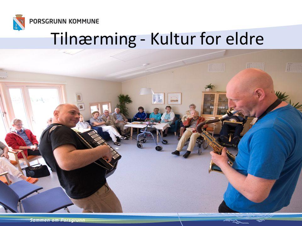 LYST – IKKE ALDER OG DIAGNOSEFOKUS Eldre som ressurs for andre eldre Skape tilgang til talentet hos, eller opplevelsen for den enkelte, ved å tilrettelegge for kvalitative kulturopplevelse.