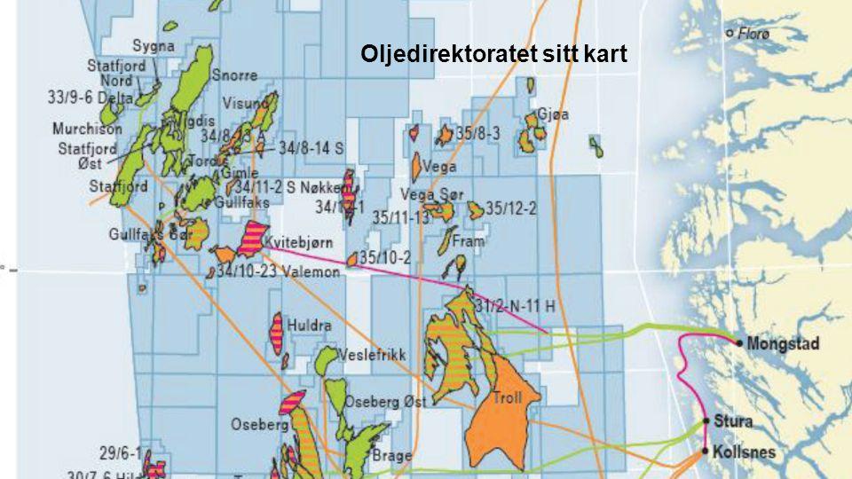 Oljedirektoratet sitt kart