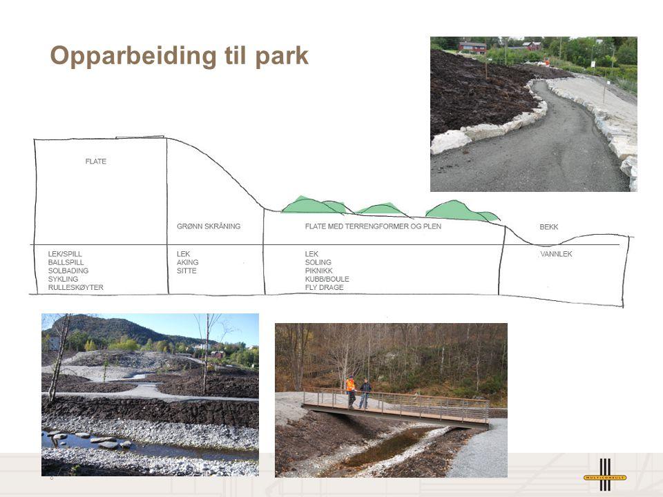 8 Opparbeiding til park