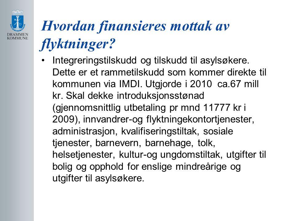 Hvordan finansieres mottak av flyktninger? Integreringstilskudd og tilskudd til asylsøkere. Dette er et rammetilskudd som kommer direkte til kommunen