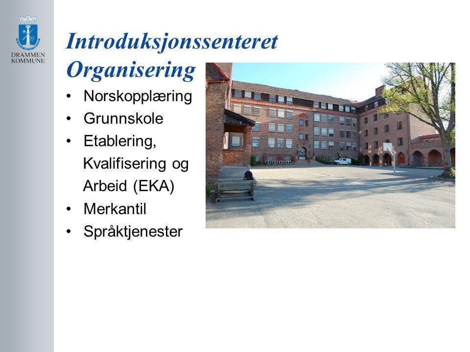 Introduksjonssenteret Organisering Norskopplæring Grunnskole Etablering, Kvalifisering og Arbeid (EKA) Merkantil Språktjenester