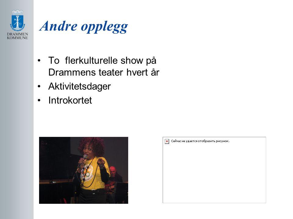 Andre opplegg To flerkulturelle show på Drammens teater hvert år Aktivitetsdager Introkortet