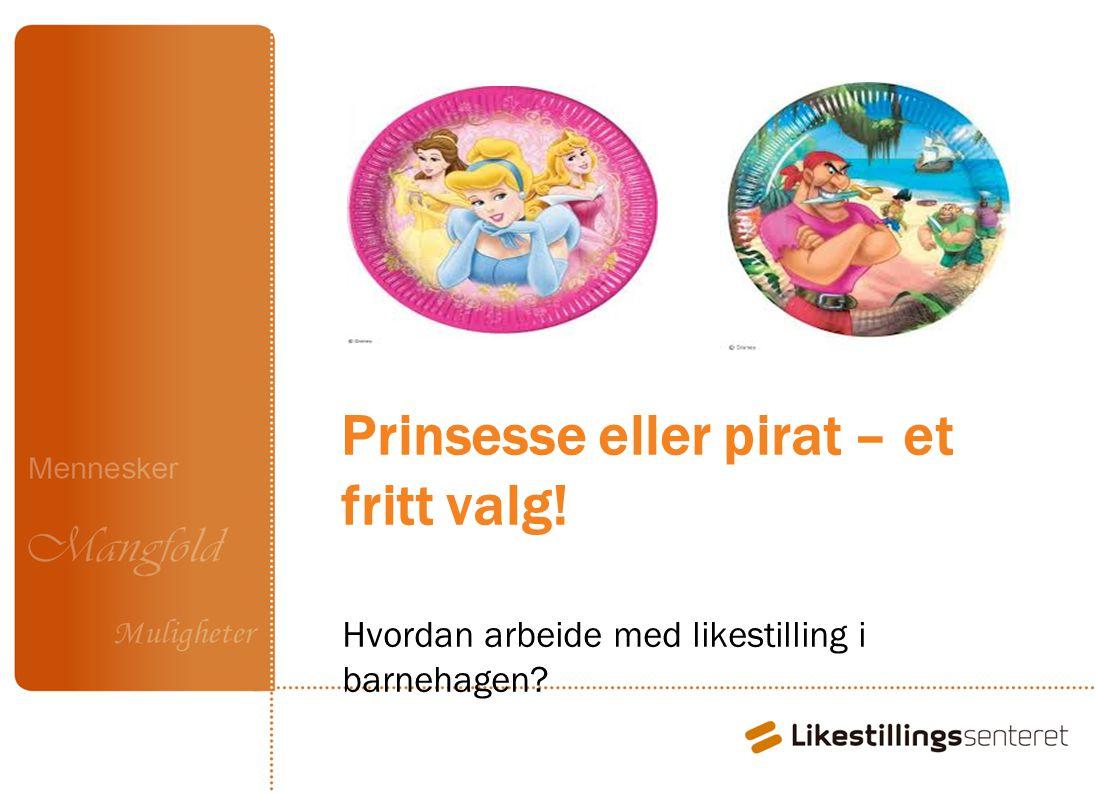 Prinsesse eller pirat – et fritt valg! Hvordan arbeide med likestilling i barnehagen?