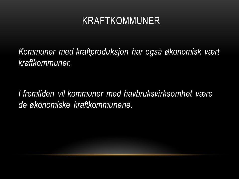 KRAFTKOMMUNER Kommuner med kraftproduksjon har også økonomisk vært kraftkommuner.