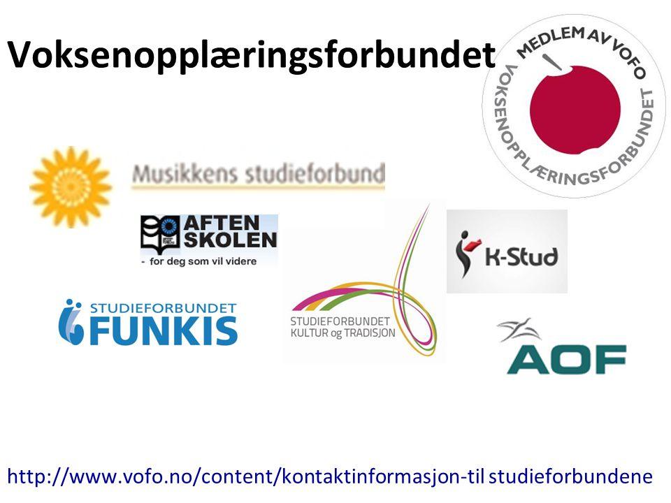 Voksenopplæringsforbundet http://www.vofo.no/content/kontaktinformasjon-til studieforbundene