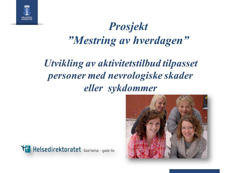 """Prosjekt """"Mestring av hverdagen"""" Utvikling av aktivitetstilbud tilpasset personer med nevrologiske skader eller sykdommer"""