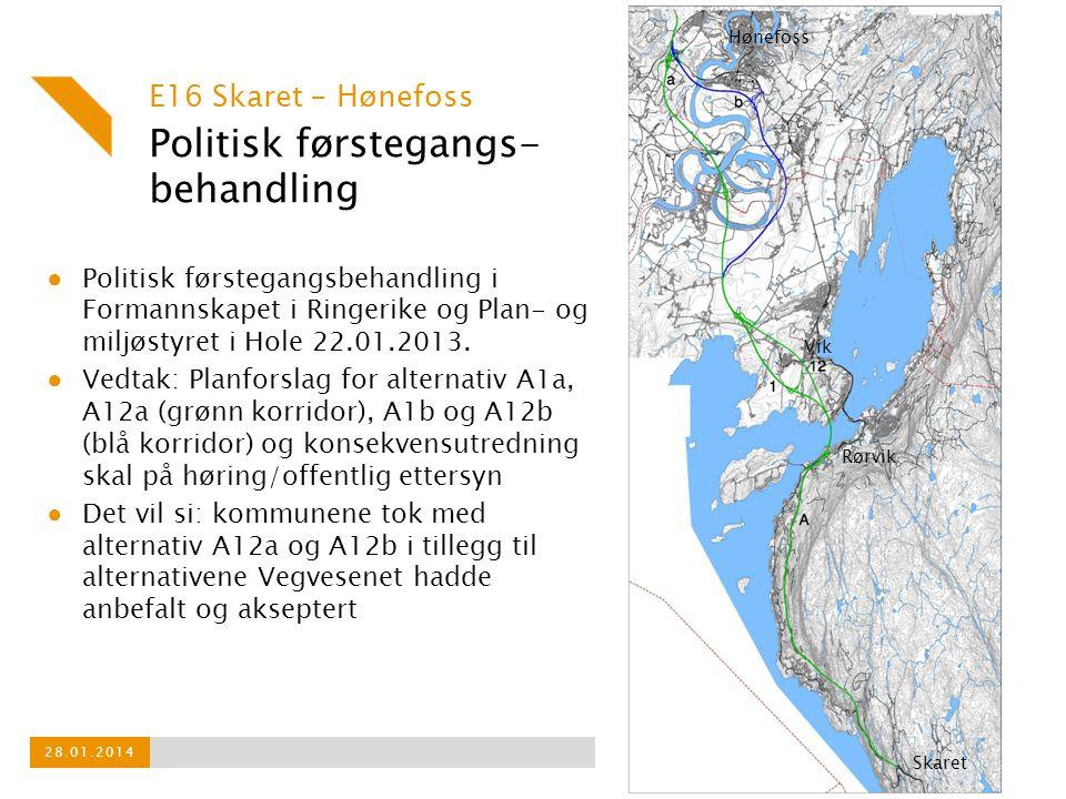Politisk førstegangs- behandling ● Politisk førstegangsbehandling i Formannskapet i Ringerike og Plan- og miljøstyret i Hole 22.01.2013.