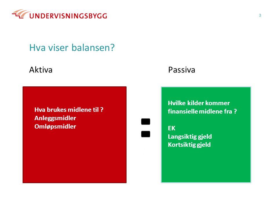 Hva viser balansen.AktivaPassiva 3 Hvilke kilder kommer finansielle midlene fra .
