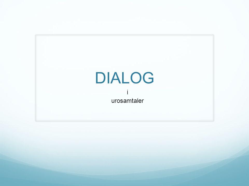 Dialogisme Uroprosjektet tar utgangspunkt i dialogismen (Bakhtin) Dialog er både en måte å tenke og arbeide på.