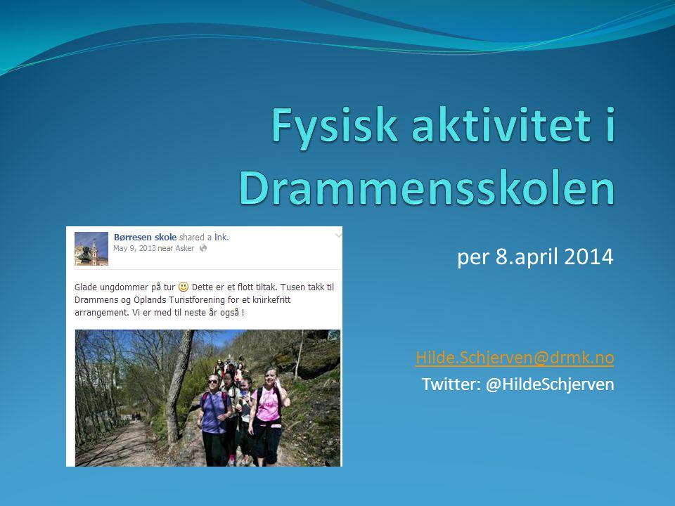per 8.april 2014 Hilde.Schjerven@drmk.no Twitter: @HildeSchjerven