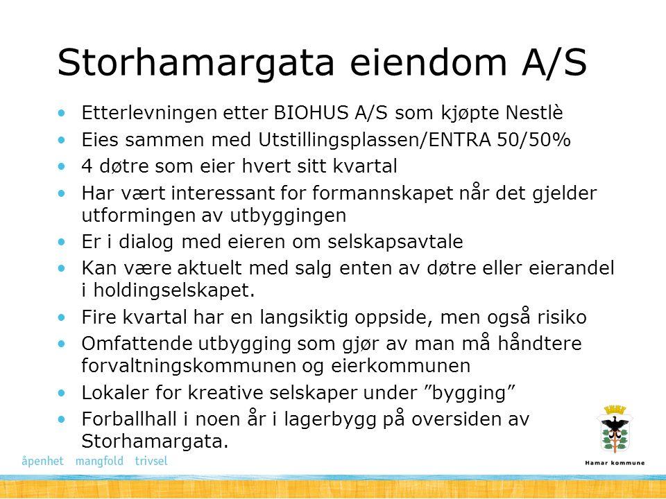 Storhamargata eiendom A/S Etterlevningen etter BIOHUS A/S som kjøpte Nestlè Eies sammen med Utstillingsplassen/ENTRA 50/50% 4 døtre som eier hvert sit