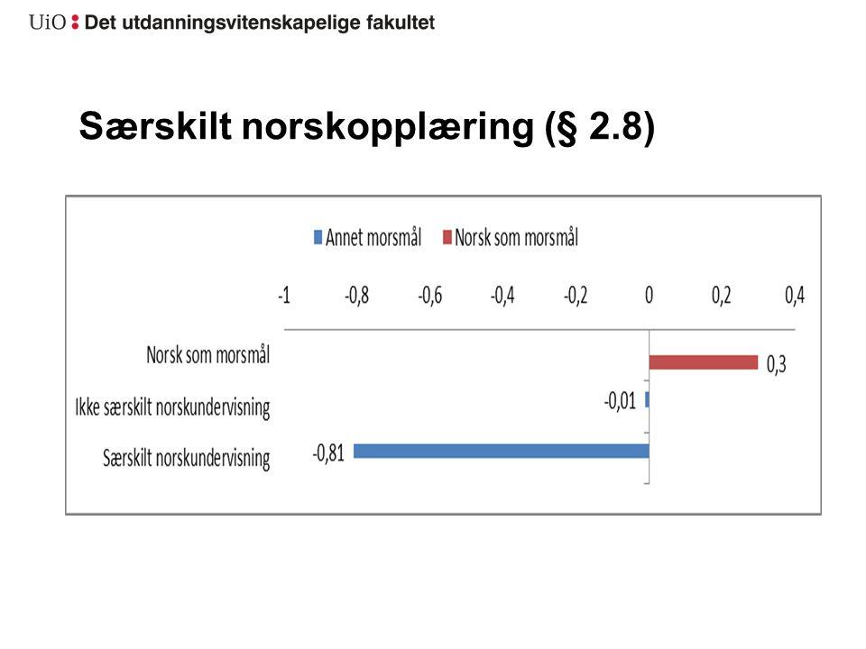 Særskilt norskopplæring (§ 2.8)