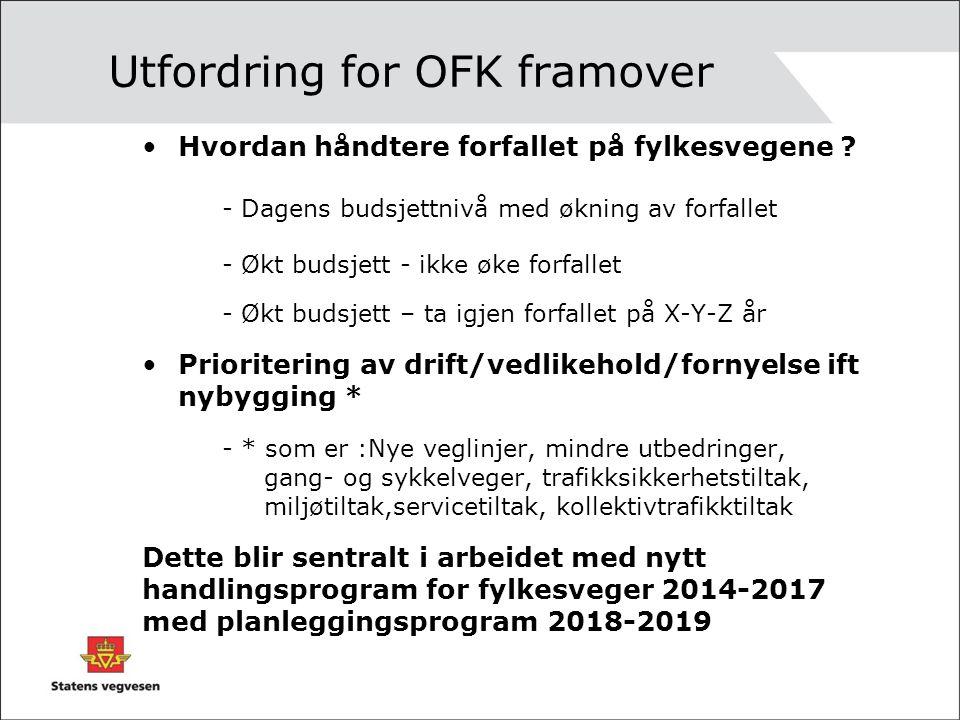 Utfordring for OFK framover Hvordan håndtere forfallet på fylkesvegene .