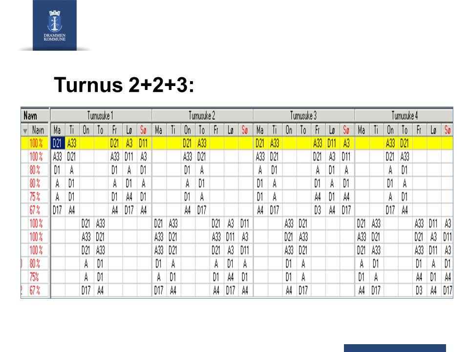 Turnus 2+2+3: