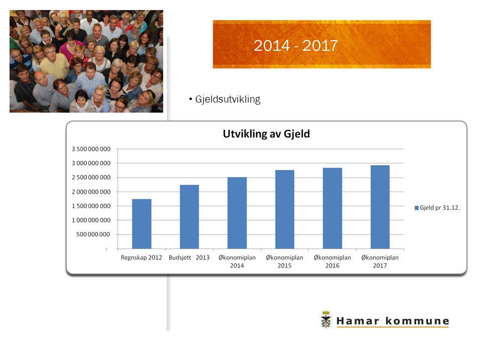 Gjeldsutvikling 2014 - 2017