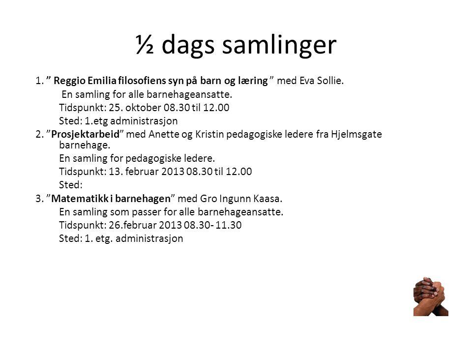 ½ dags samlinger 4. Utvikling av språklig bevissthet med Natalia Lundeland.