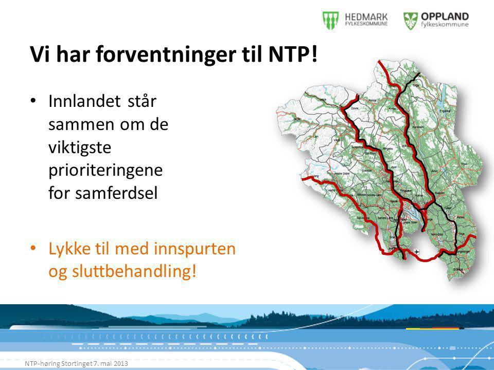 Vi har forventninger til NTP. NTP-høring Stortinget 7.