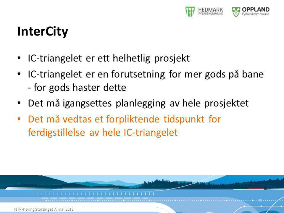 InterCity NTP-høring Stortinget 7.