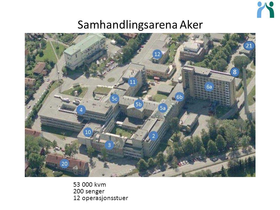 Samhandlingsarena Aker 21 8 53 000 kvm 200 senger 12 operasjonsstuer