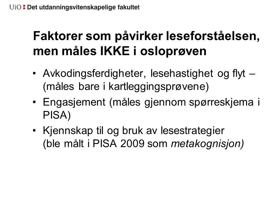 GjennomsnittAntall Norsk morsmål Annet morsmål Leser ikke-0,34355-0,14-0,70 30 min.