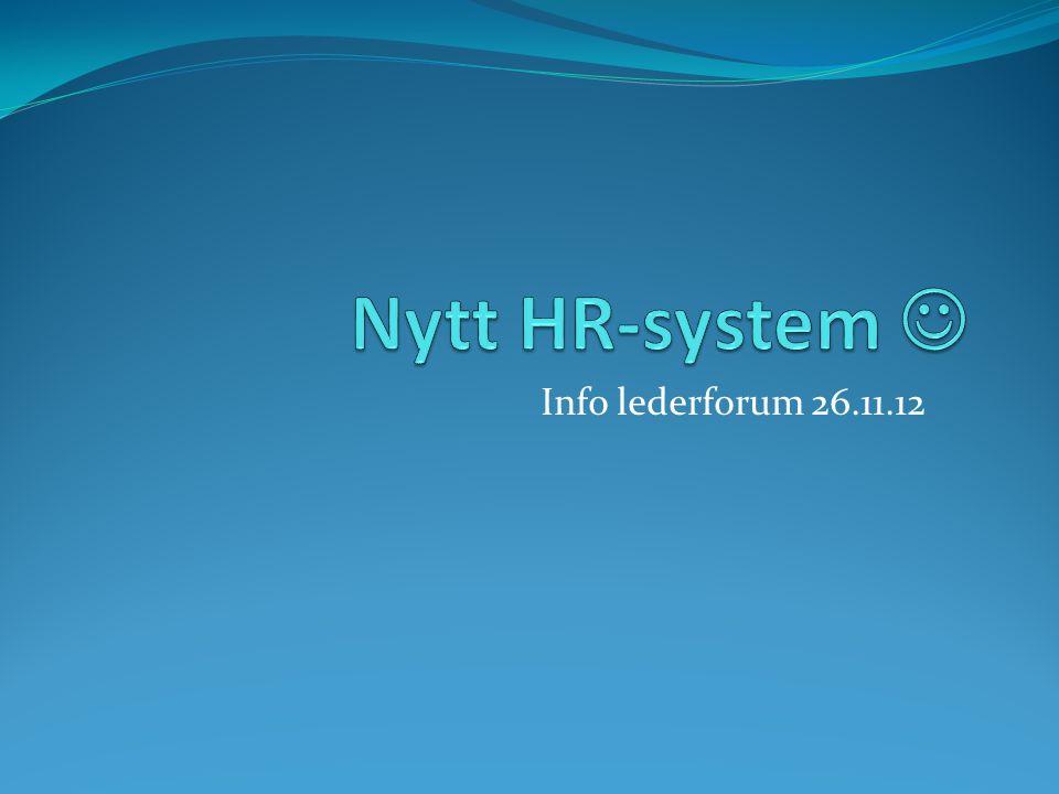 Ord og uttrykk i nytt system Ressurs = en ansatt Ressursnummer = ansatt nummer som genereres i HR- systemet når en ansatt begynner i Oslo kommune.