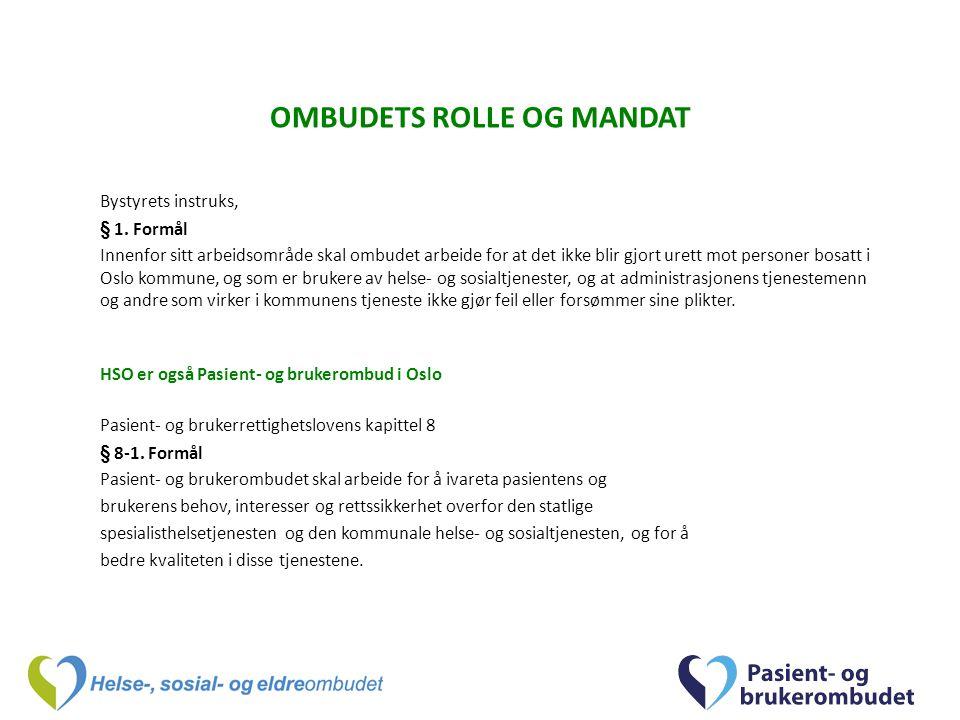 OMBUDETS ROLLE OG MANDAT Bystyrets instruks, § 1.