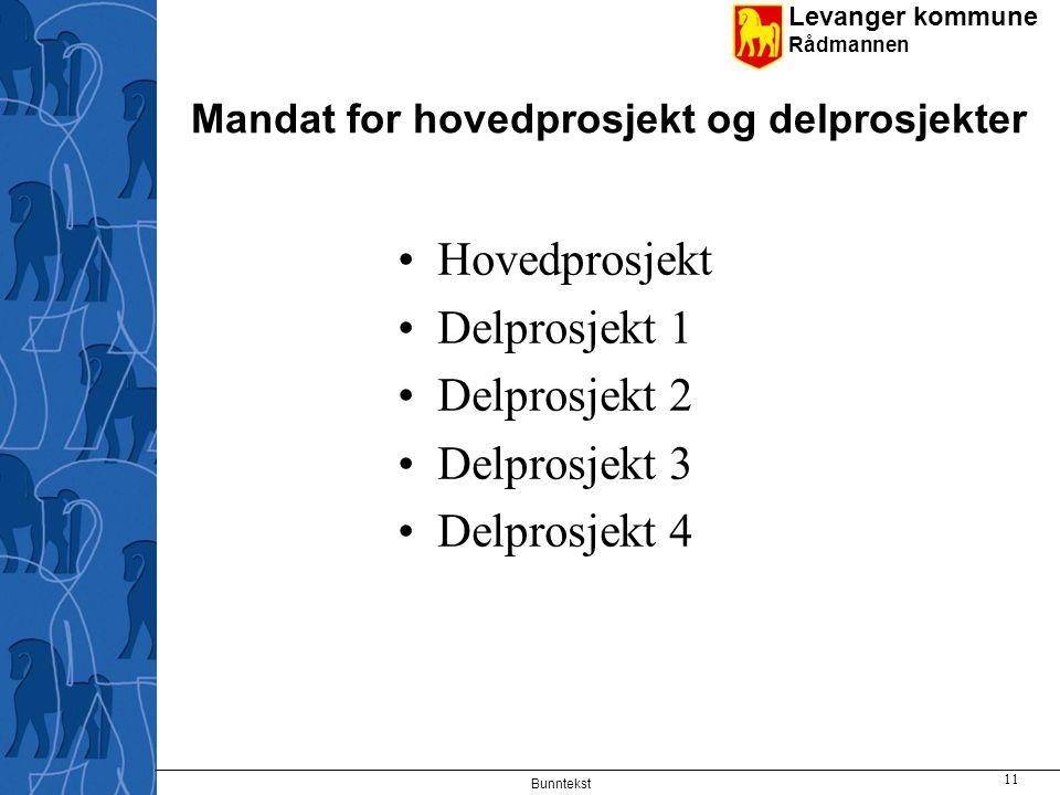 Levanger kommune Rådmannen Tidsplan jan 2012 - Forberedelse av prosess RLG 30.1.