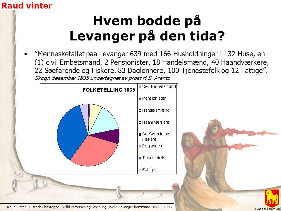Raud vinter - Historisk bakteppe - Arild Pettersen og Sveinung Havik, Levanger kommune - 09.06.2006 Raud vinter Levanger kommune Hvem bodde på Levange