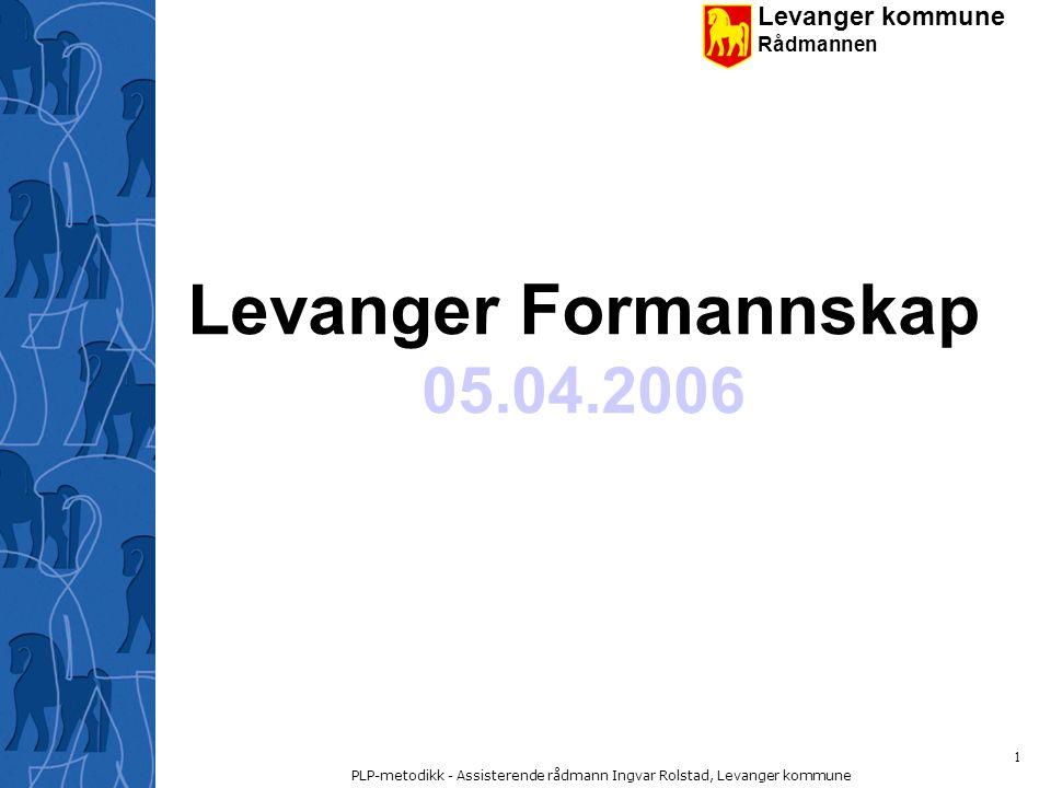 Levanger kommune Rådmannen PLP-metodikk - Assisterende rådmann Ingvar Rolstad, Levanger kommune 12 Prosjektansvarlig (PA) Prosjektansvarlig har det overordnede prosjektansvaret.