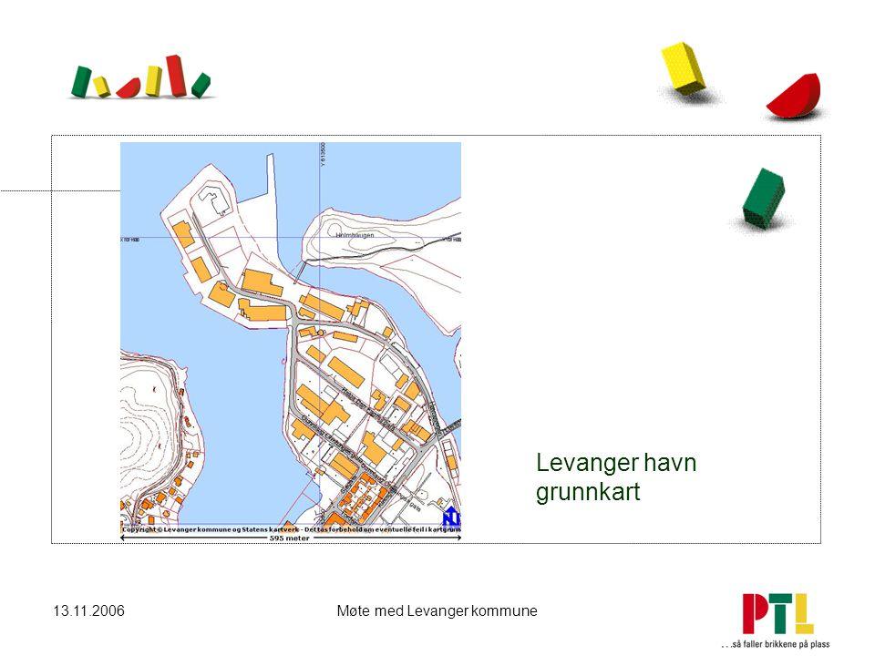 13.11.2006Møte med Levanger kommune Levanger havn grunnkart