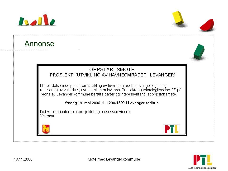 13.11.2006Møte med Levanger kommune Annonse