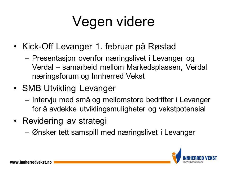 Vegen videre Kick-Off Levanger 1. februar på Røstad –Presentasjon ovenfor næringslivet i Levanger og Verdal – samarbeid mellom Markedsplassen, Verdal