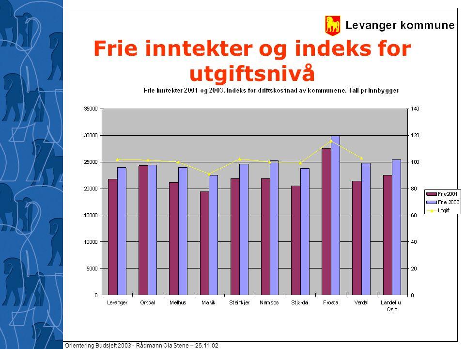 Orientering Budsjett 2003 - Rådmann Ola Stene – 25.11.02 Resultat /Avgangskarakterer