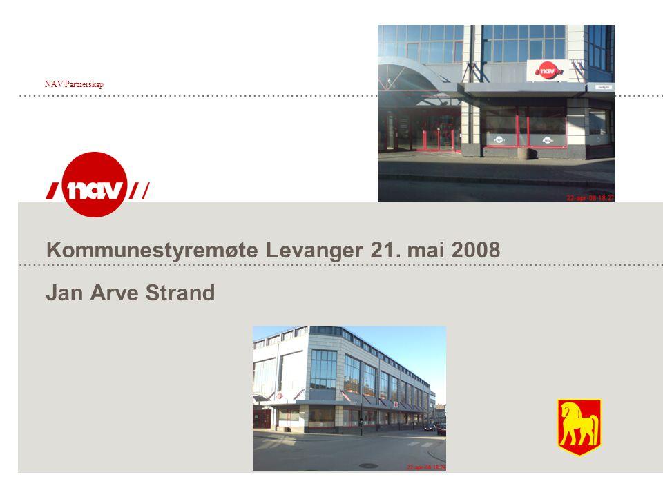 Kommunestyremøte Levanger 21. mai 2008 Jan Arve Strand NAV Partnerskap