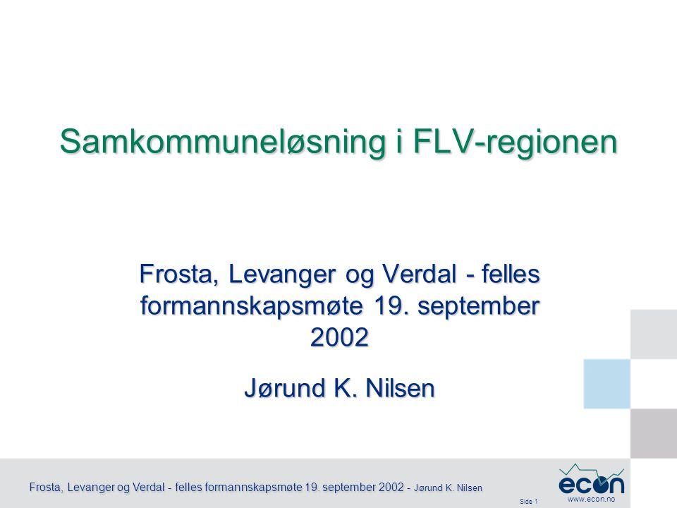 Side 2 Frosta, Levanger og Verdal - felles formannskapsmøte 19.