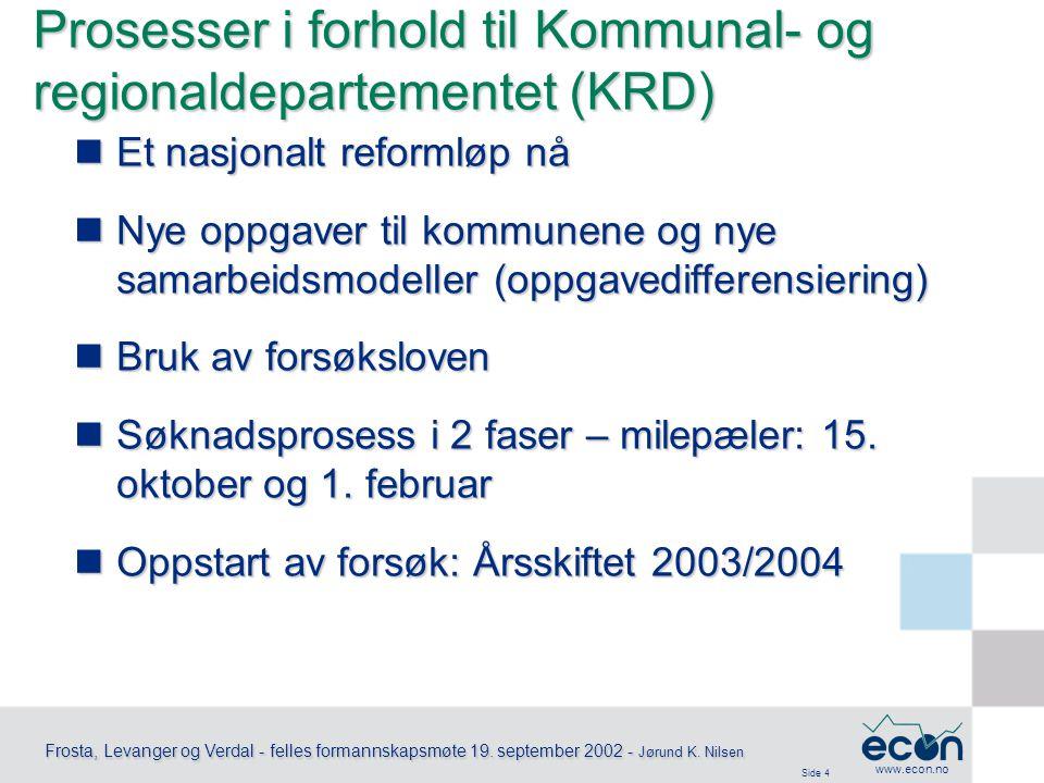 Side 5 Frosta, Levanger og Verdal - felles formannskapsmøte 19.