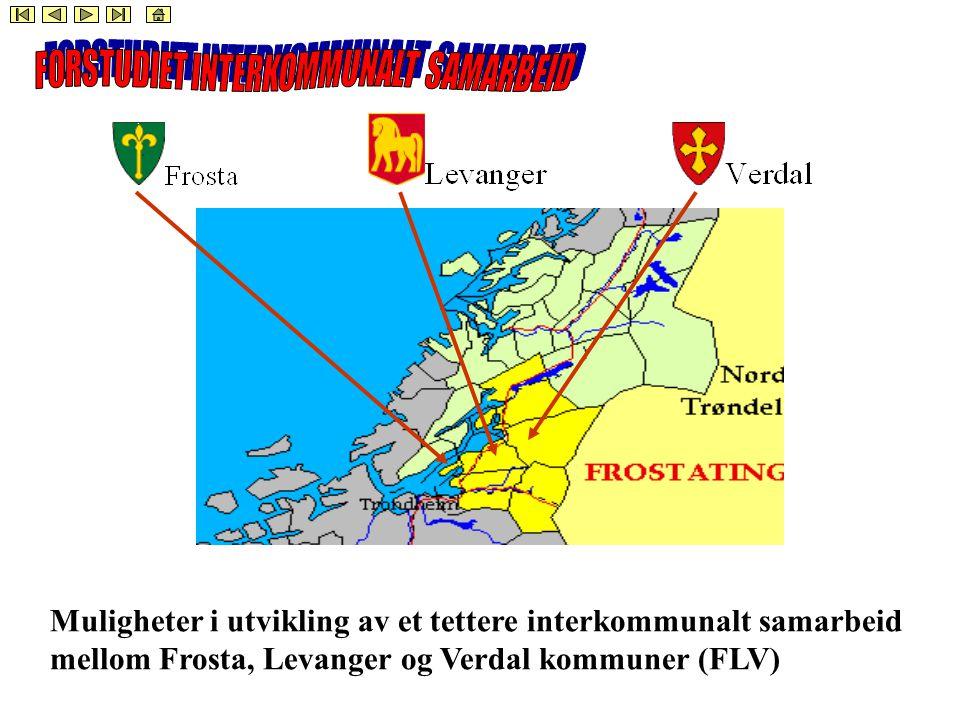 Muligheter i utvikling av et tettere interkommunalt samarbeid mellom Frosta, Levanger og Verdal kommuner (FLV)