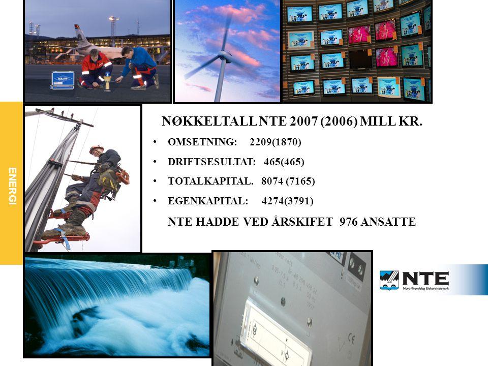 ENERGI NØKKELTALL NTE 2007 (2006) MILL KR.