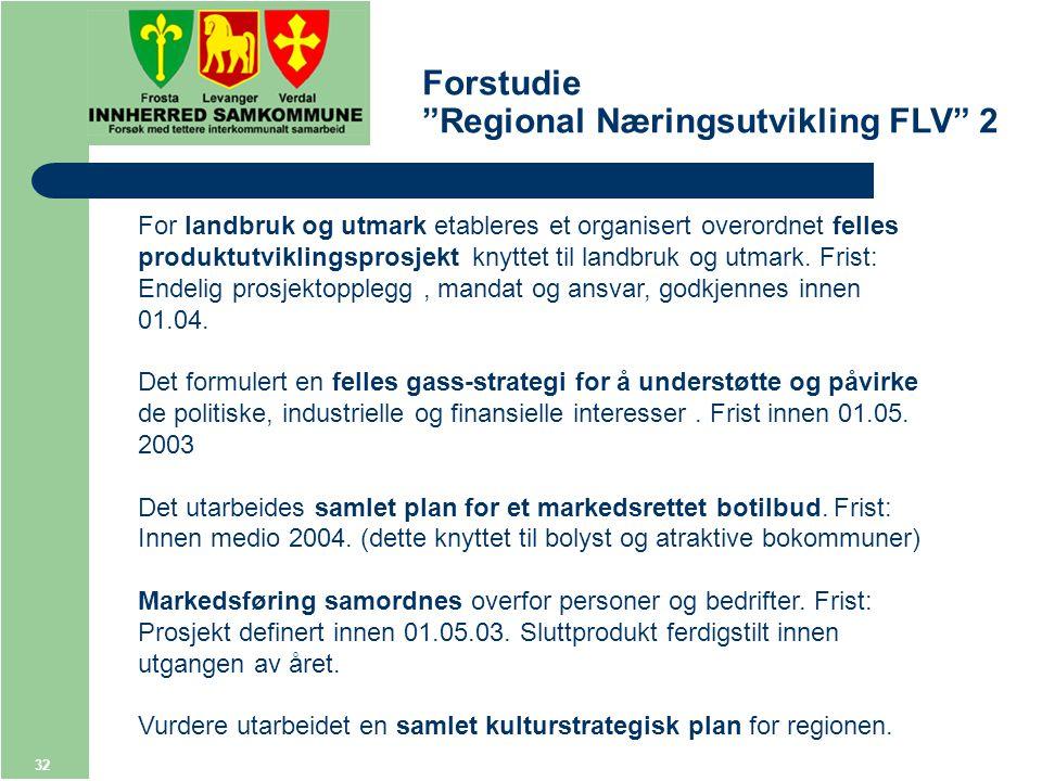 32 For landbruk og utmark etableres et organisert overordnet felles produktutviklingsprosjekt knyttet til landbruk og utmark.