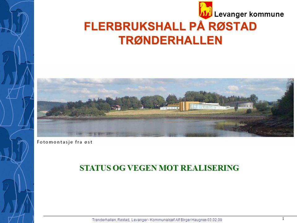 Levanger kommune Trønderhallen, Røstad, Levanger - Kommunalsjef Alf Birger Haugnes 03.02.09 2 MÅLSETTING FOR PROSJEKTET Kommunens vertskapsrolle for HiNT –arb.pl.