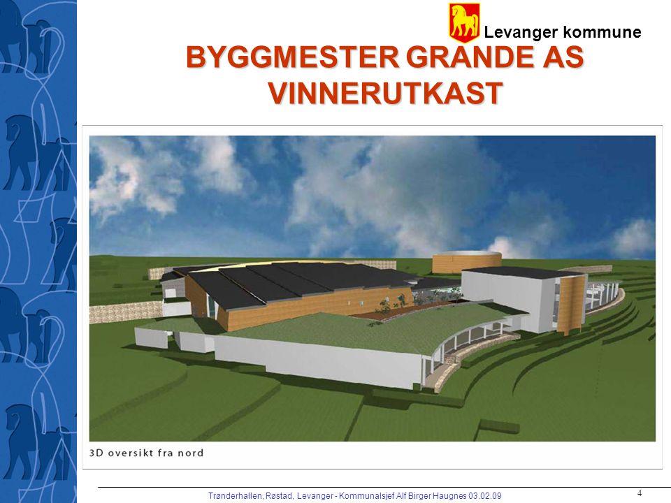 Levanger kommune Trønderhallen, Røstad, Levanger - Kommunalsjef Alf Birger Haugnes 03.02.09 4 BYGGMESTER GRANDE AS VINNERUTKAST