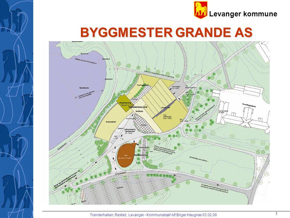 Levanger kommune Trønderhallen, Røstad, Levanger - Kommunalsjef Alf Birger Haugnes 03.02.09 5 BYGGMESTER GRANDE AS